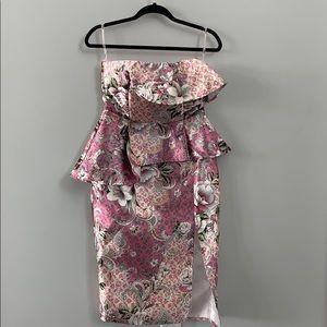 ASOS Floral Strapless Dress